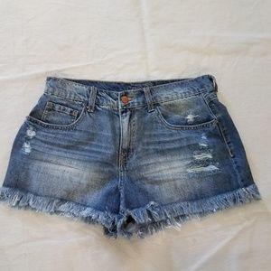 Rue 21 Jean Distressed Fringe Hem Cut off Shorts